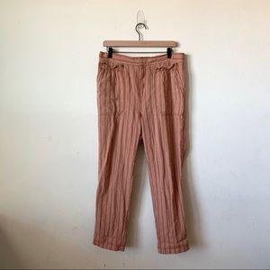 Anthropologie Stripe Linen Pants